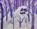 Purple snow 5 x 7 copy