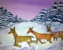 deer-800 11 x 15 Mixed Medium