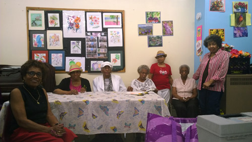 Elmcor senior center art exhibit for Geraldine